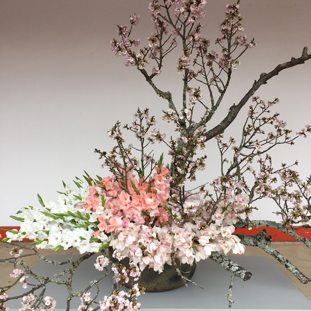 A floral arrangement at the Imperial Palace Tokyo