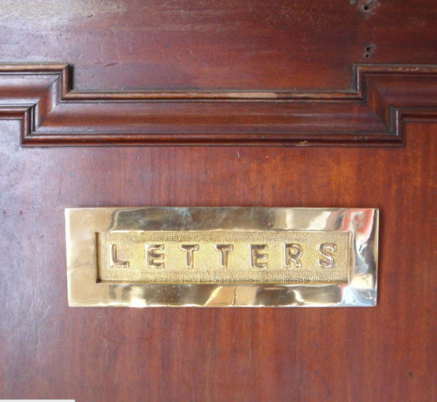 Edwardian in style, this clean letter plate will suit a large door.
