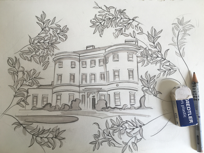 William Morris Gallery sketch by Isla Simpson
