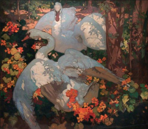 The Swans by Frank Brangwyn