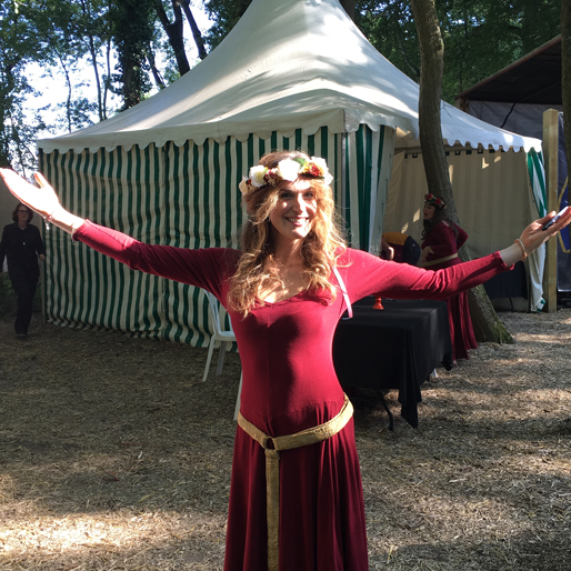 Clare Edmondson of the Medieval babes