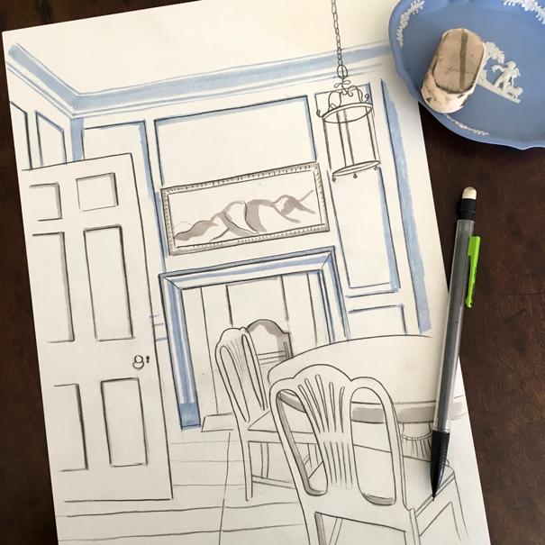 13 Princelet Street drawn by Isla Simpson