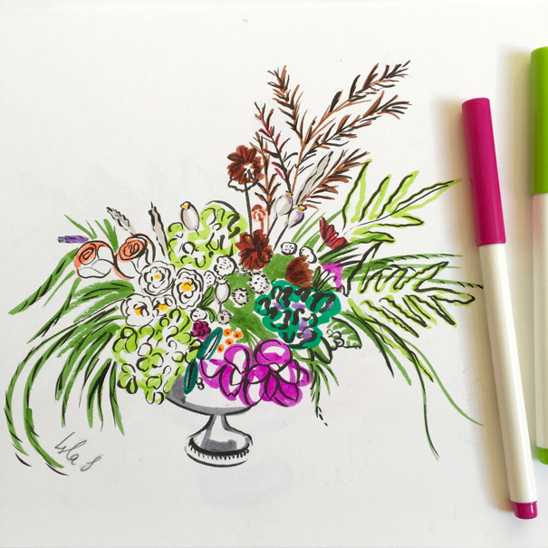 flowers by Worm London drawn by Isla Simpson