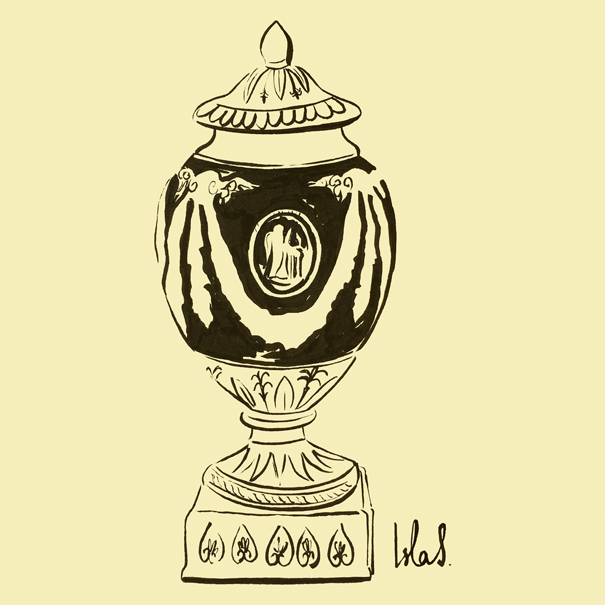 Wedgwood urn sketch by Isla Simpson