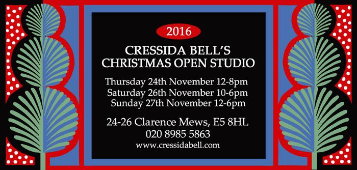 Cressida Bell's open studio event 2016