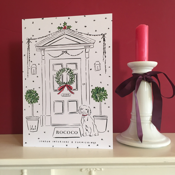 Rococo London x Isla Simpson Christmas card
