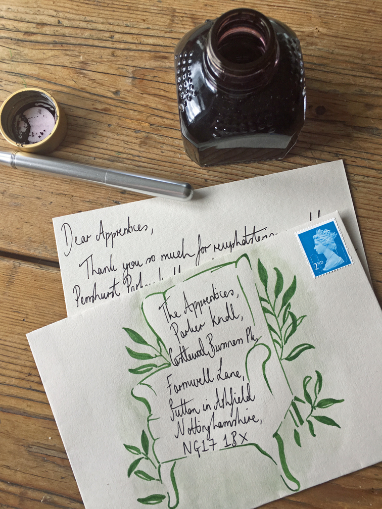 A thank you note to the Parker Knoll Apprentices illustrated by Isla Simpson