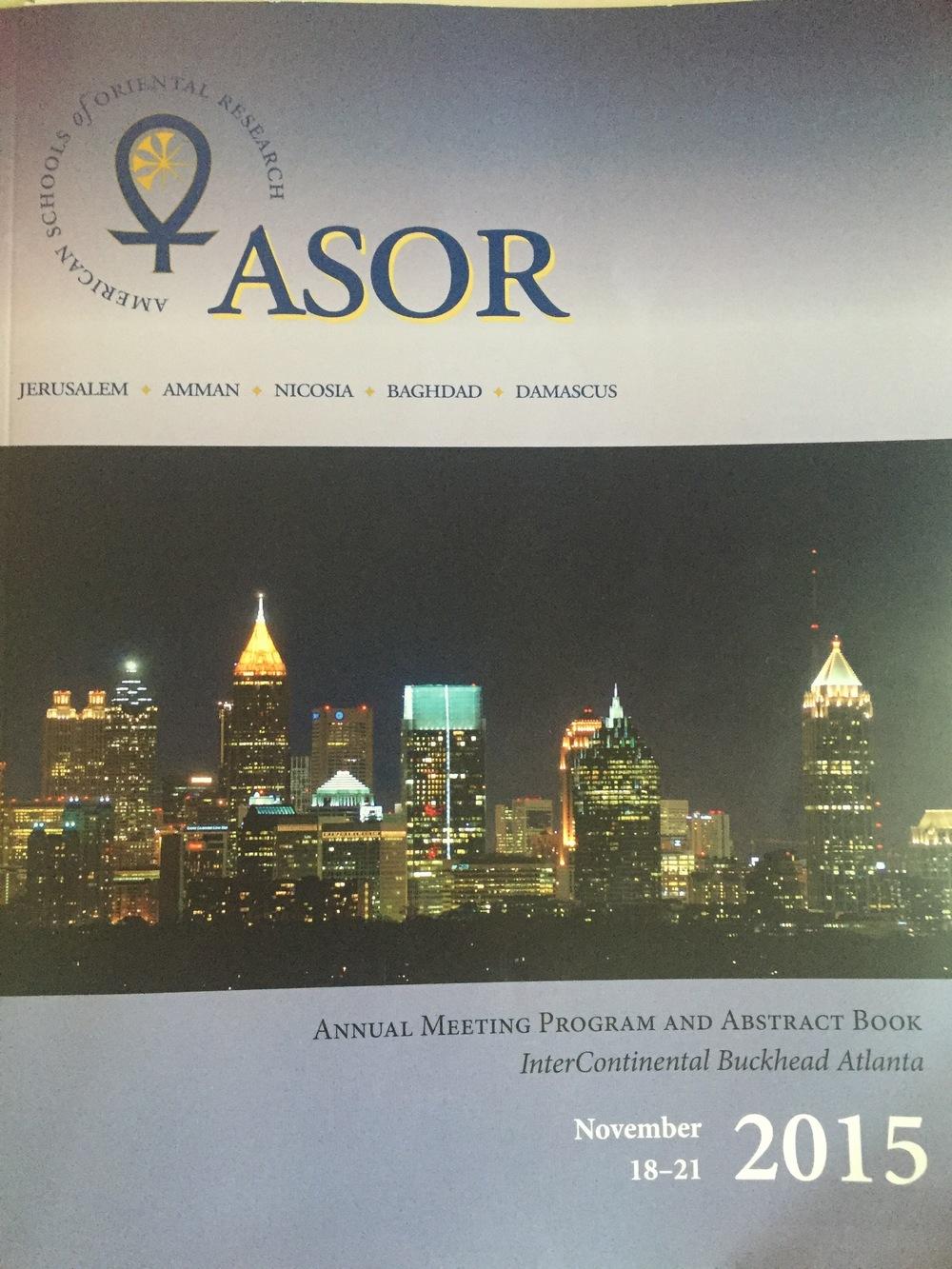 ASOR 2015 program