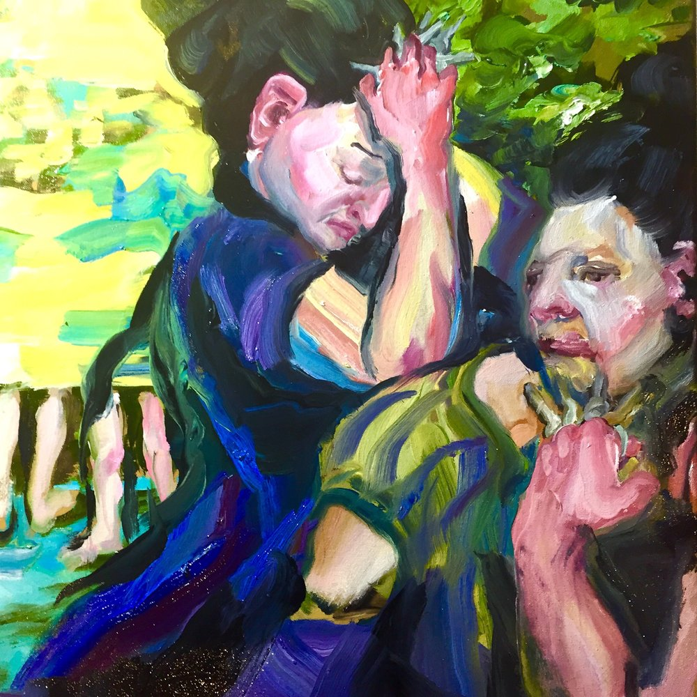 Yellow Dancers with Keys, Oil on canvas, 22 X 26, 2017  |  Photo credit: Sarah Beth Smith Photography