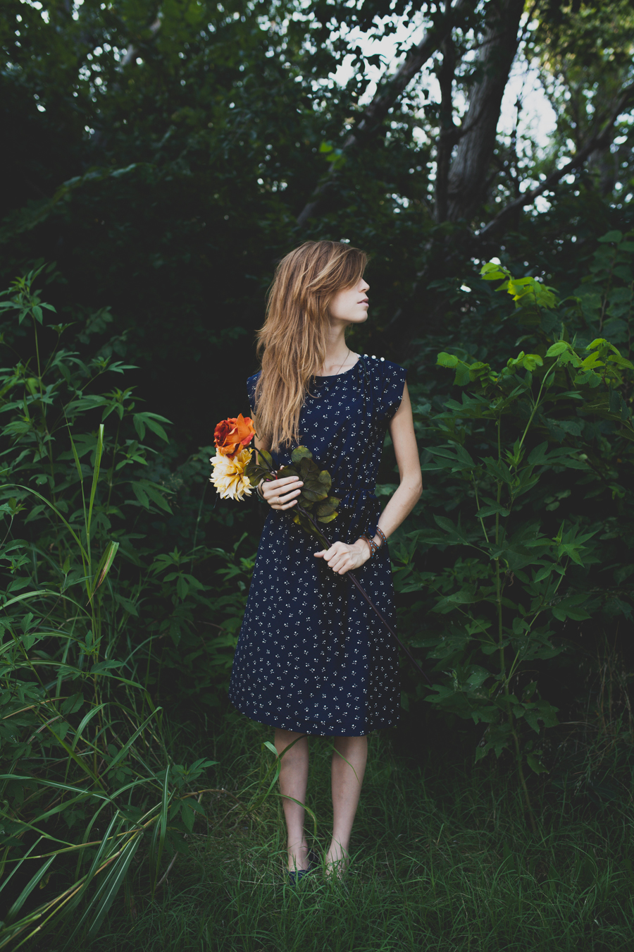 Vintage Navy Picnic Dress