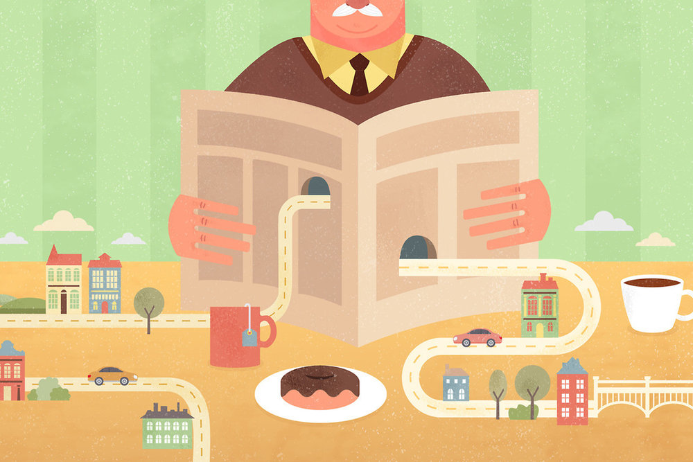 Food@Time: Editorial Illustrations -