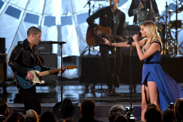Kelsea Ballerini performs with Nick Jonas at the American Country Music Awards in 2016 where she also won her first award.