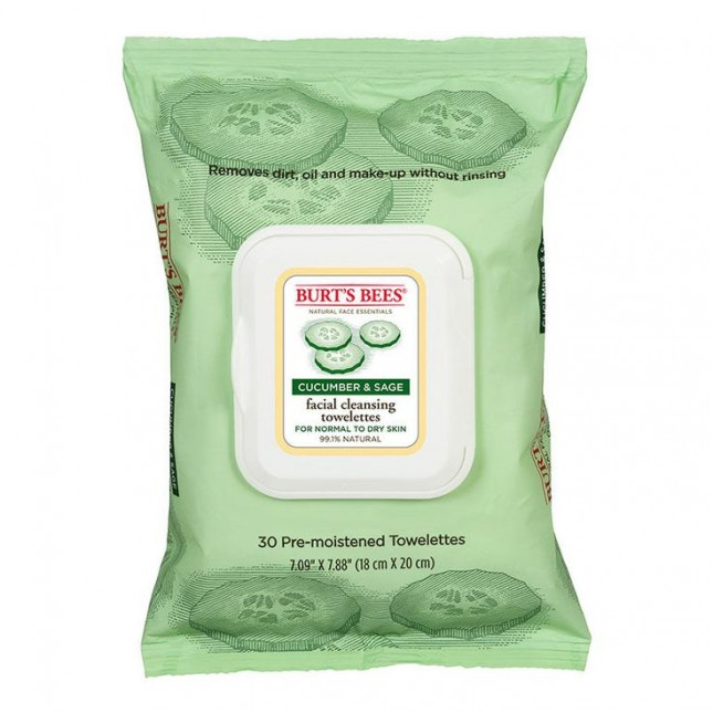 Burt's Bees Facial Cleansing Towelettes in Cucumber and Sage