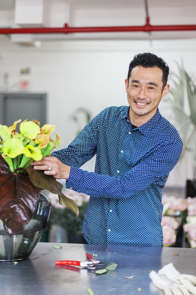 Arrangements created by L' Atelier Rouge's Head of Floral Design, Takaya Sato