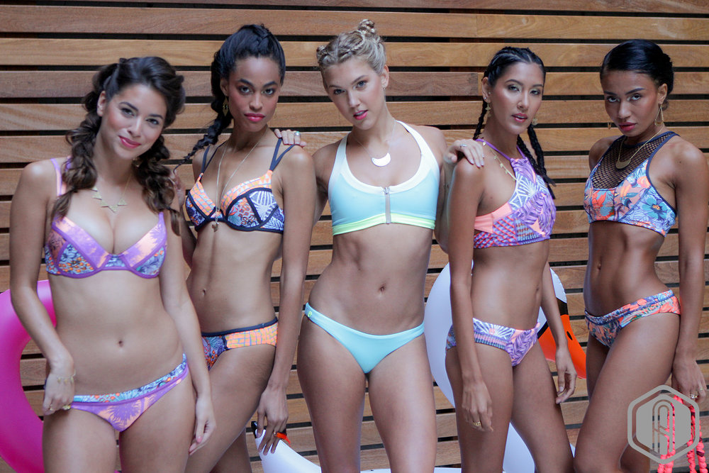 ATHLEISURE HOUSE NYFW PRESENTED BY ATHLEISURE MAG: MAAJI SWIMWEAR PRESENTATION  (Models L - R) | PHOTOGRAPHY Paul Farkas | STYLIST Kimmie Smith | MUA LEAD Nydia Figueroa | HAIR LEAD Brooke Bogle | MODELS Becky B/MSA Models,  Taylor/MSA Models, Callie/MSA Models, Deandra/MSA Models + Margo