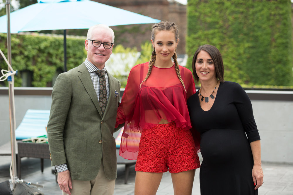 Co-hosts Tim Gunn & Hannah Jeter
