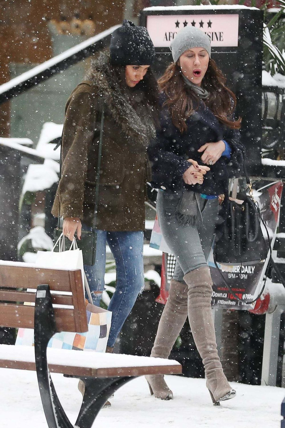 USA SUITS' Star Meghan Markle in Canada with a friend on 12.15.16