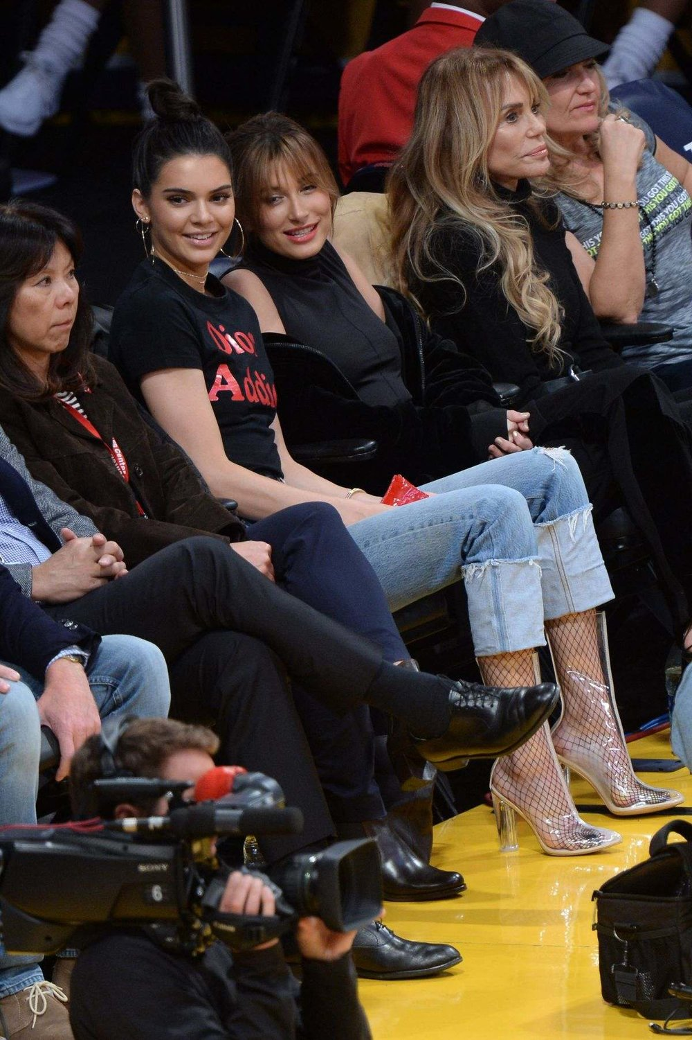 Kendall Jenner and Hailey Baldwin at the LA Laker Game 01.03.17