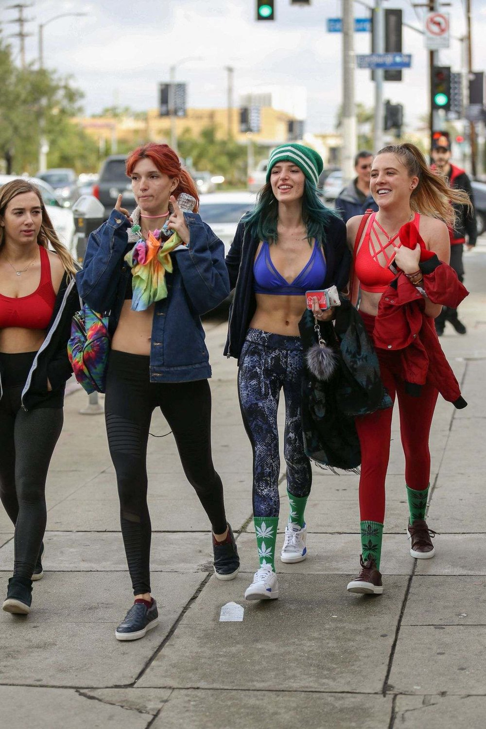 Bella Thorne and friends on the way to the gym in LA 01.05.17