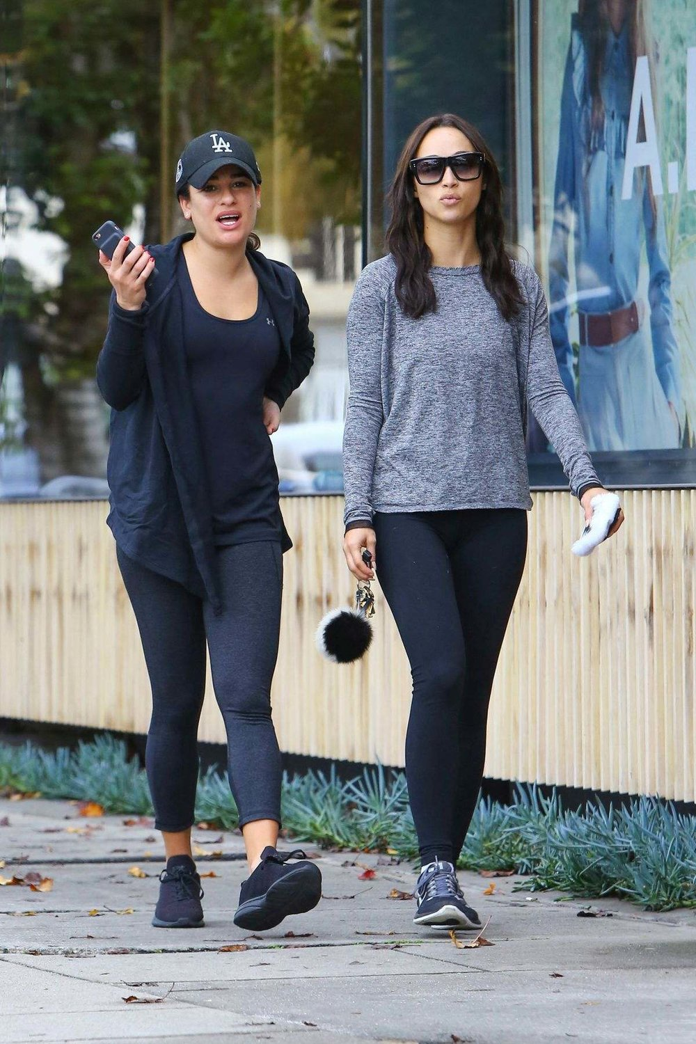 Lea Michele and Cara Santana out and about in Beverly Hills on 01.07.17.