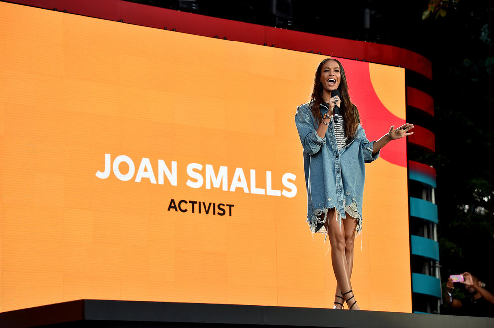 |  PHOTOGRAPHY  Theo Wargo/Getty Images for Global Citizen - Model & Activist Joan Smalls |