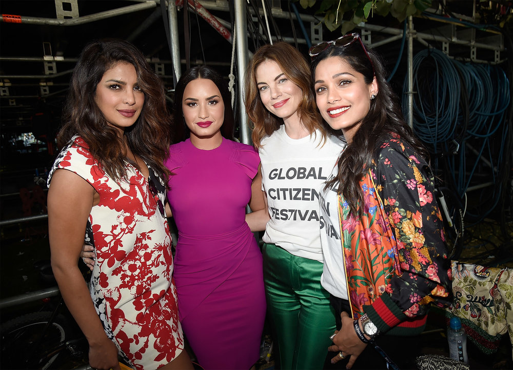 | PHOTOGRAPHY Kevin Mazur/Getty Images for Global Citizen - Priyanka Chopra; Demi Lovato; Michelle Monaghan; Freida Pinto |