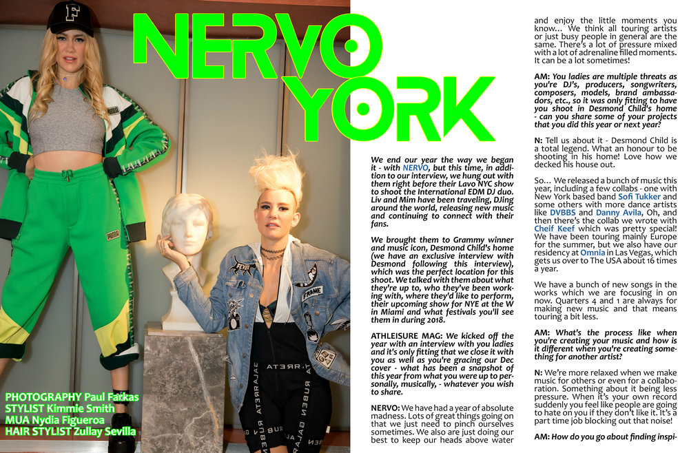 Copy of ATHLEISURE MAG DEC ISSUE WITH OUR CELEBRITY COVER, NERVO, EDM DJ DUO