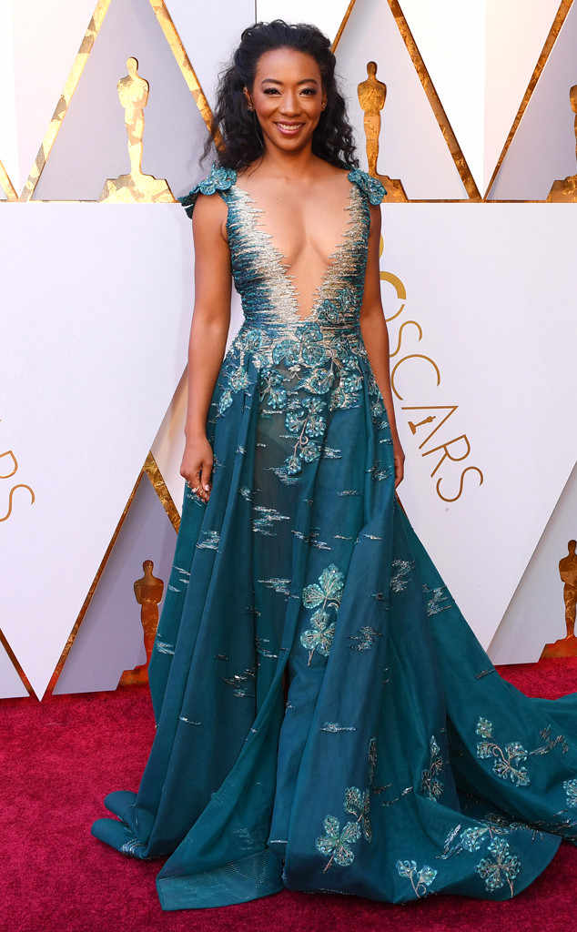 BETTY GABRIEL  | PHOTOGRAPHY David Frasier/REX Shutterstock |   STYLIST ___ | TONY WARD COUTURE Gown |