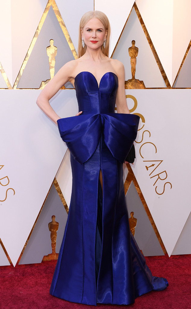 NICOLE KIDMAN  | PHOTOGRAPHY Steve Granitz/Getty Images | STYLIST ___ | ARMANI PRIVE Gown | CHRISTIAN LOUBOUTIN Shoes | FRED LEIGHTON Jewelry | OMEGA Watch |