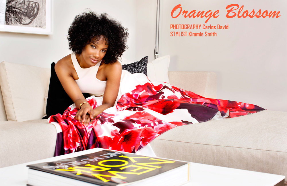 Orange Blossom with OITNB's Vicky Jeudy (Hair); Jun 2016