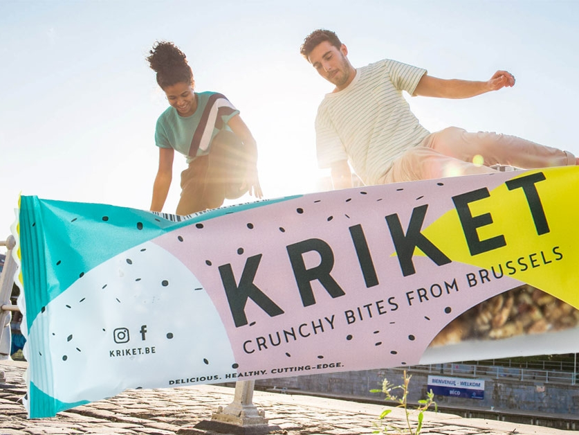 Kriket - Overall communication consultancy, brand positioning, copywriting and creative concept development for Belgian food start-up Kriket.