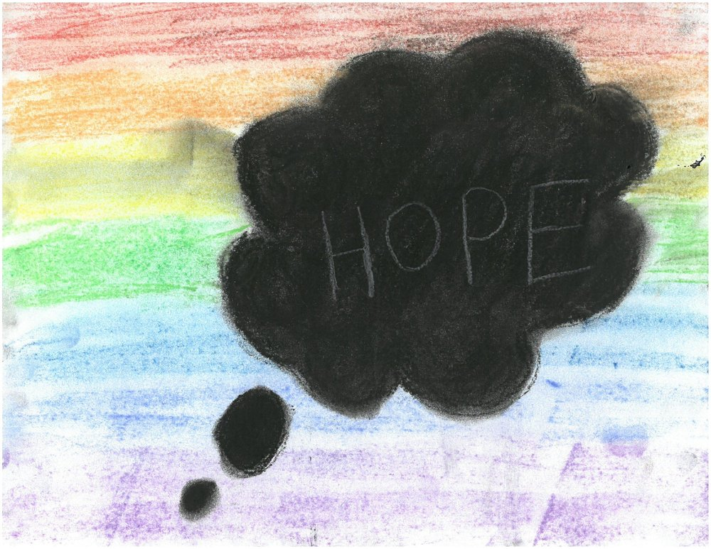 Artwork by a student at St. Nicholas Junior High, Edmonton, Alberta