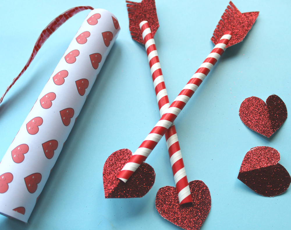 how to make valentines arrow craft