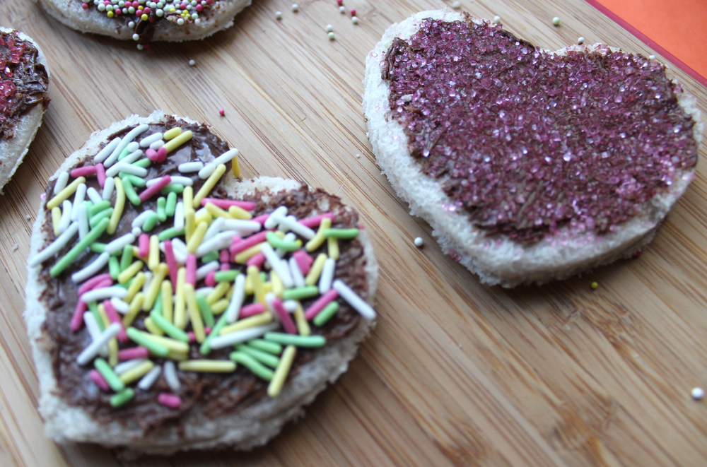 heart shaped fairy bread