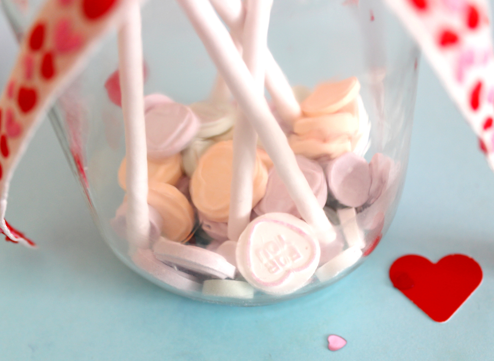 felt heart jar