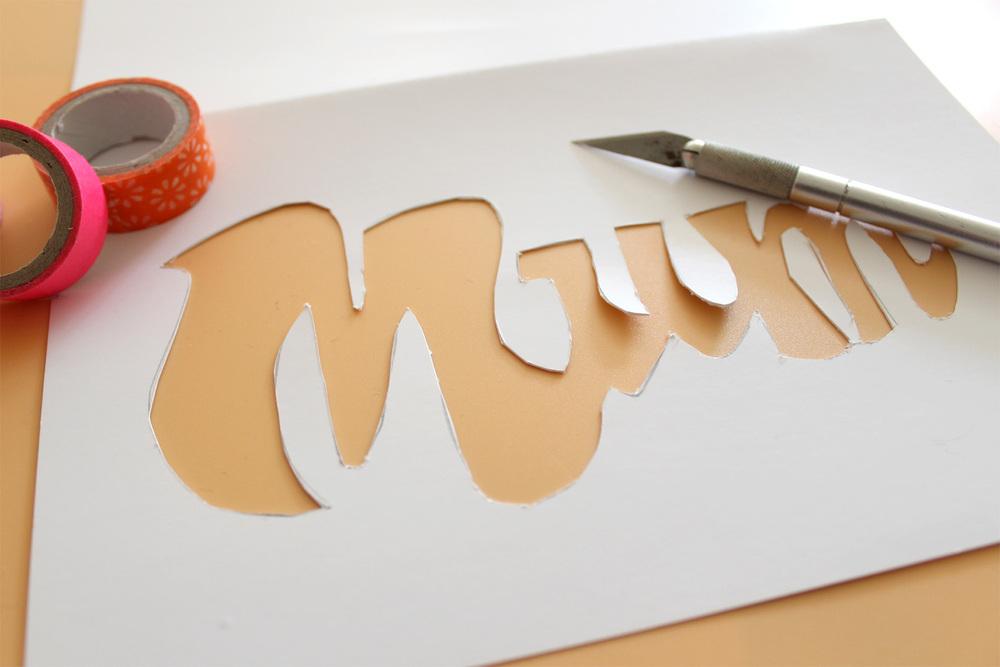mum paper-cut craft
