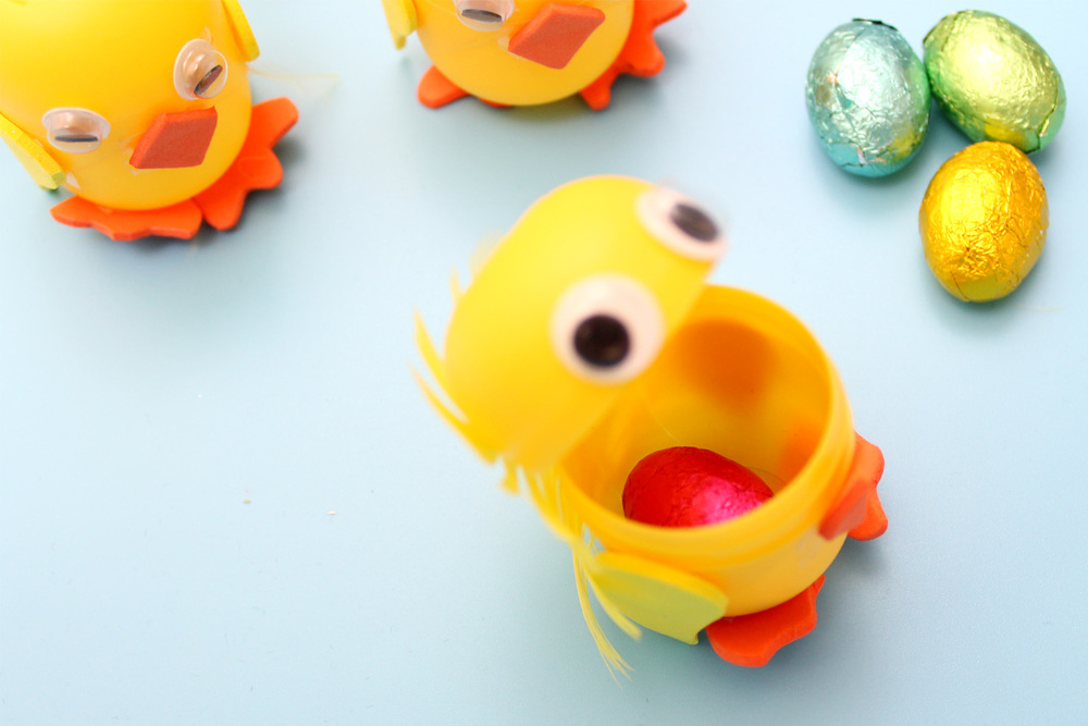kinder egg chick craft
