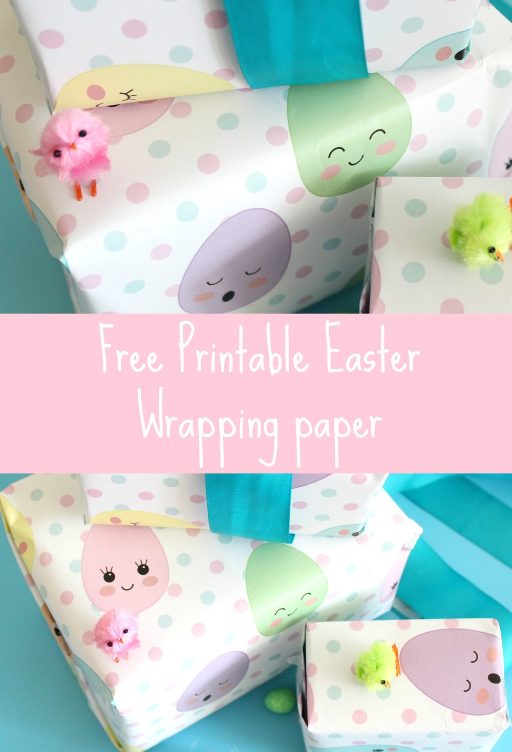 Free Easter wrapping paper printable