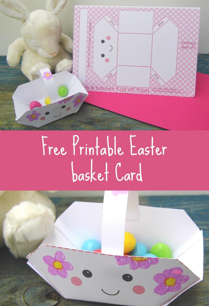 free printable Easter basket cards