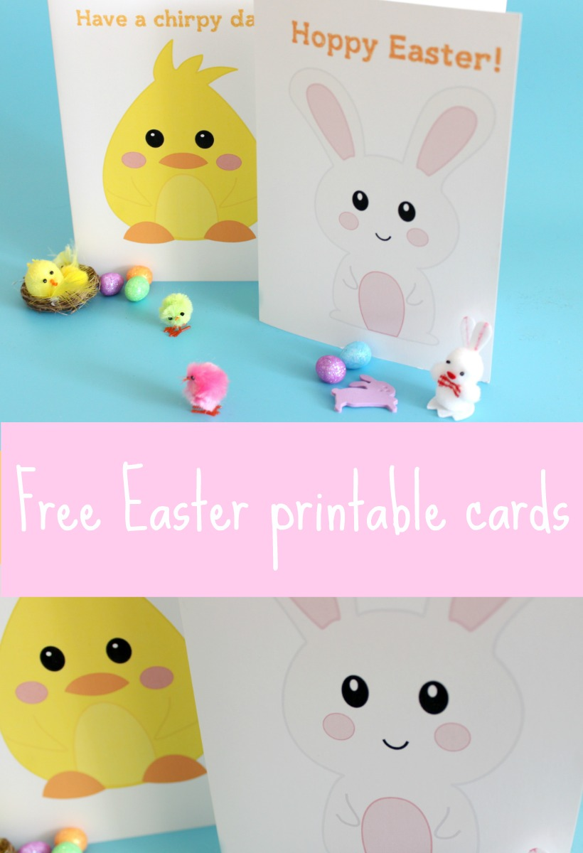 Free printable Easter cards.