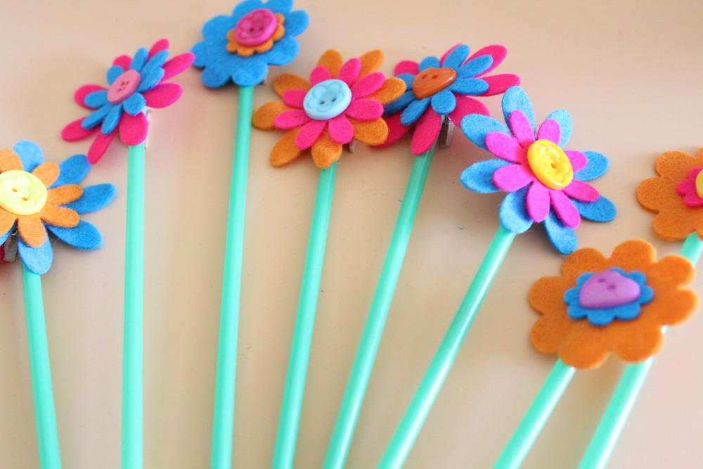 felt flower photo holders