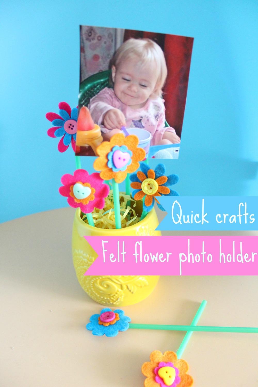how to make a felt flower photo holder