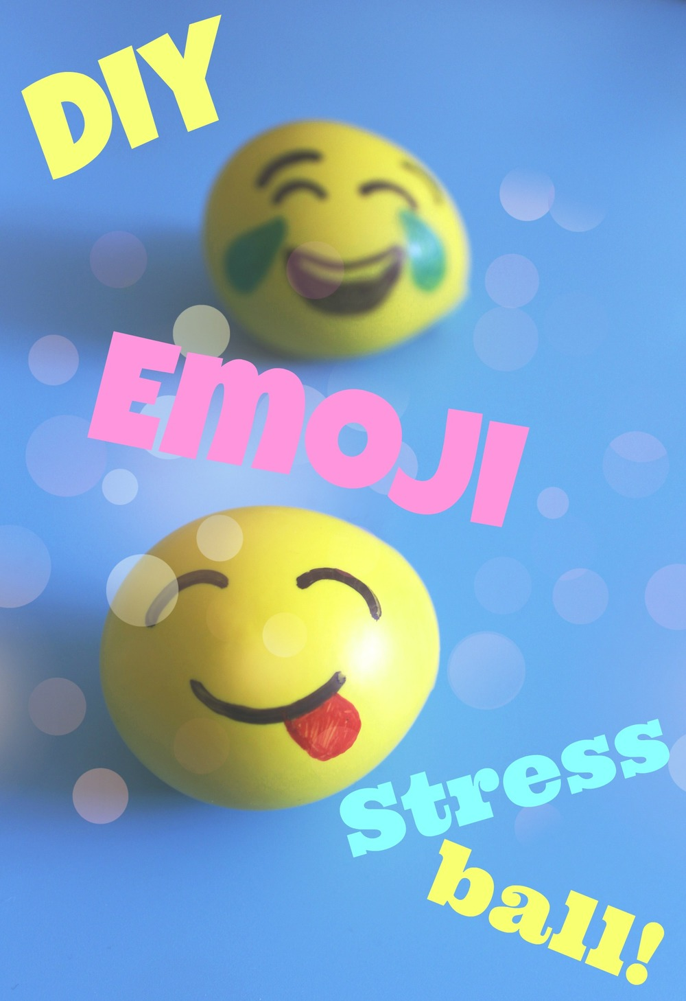 how to make an emoji stress ball