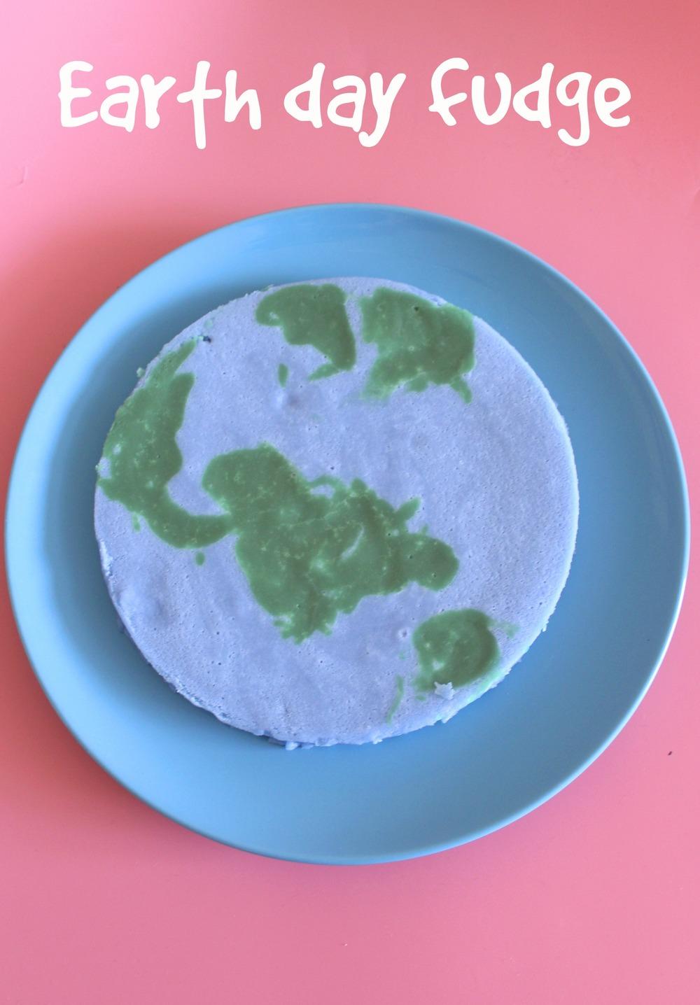 Earth day fudge