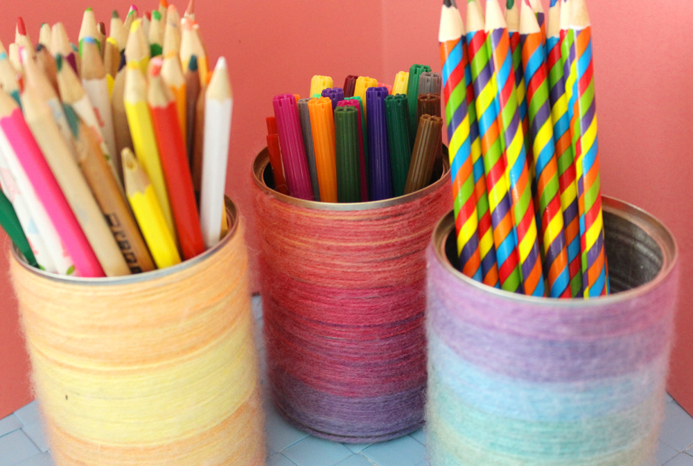 how to make a pencil pot holder