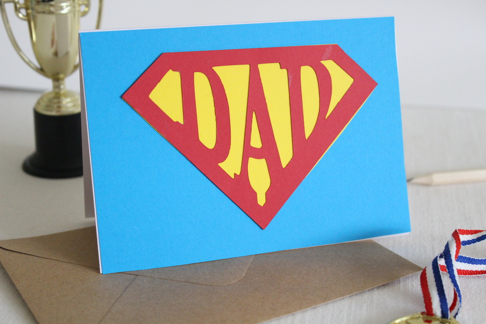 how to make a super dad card