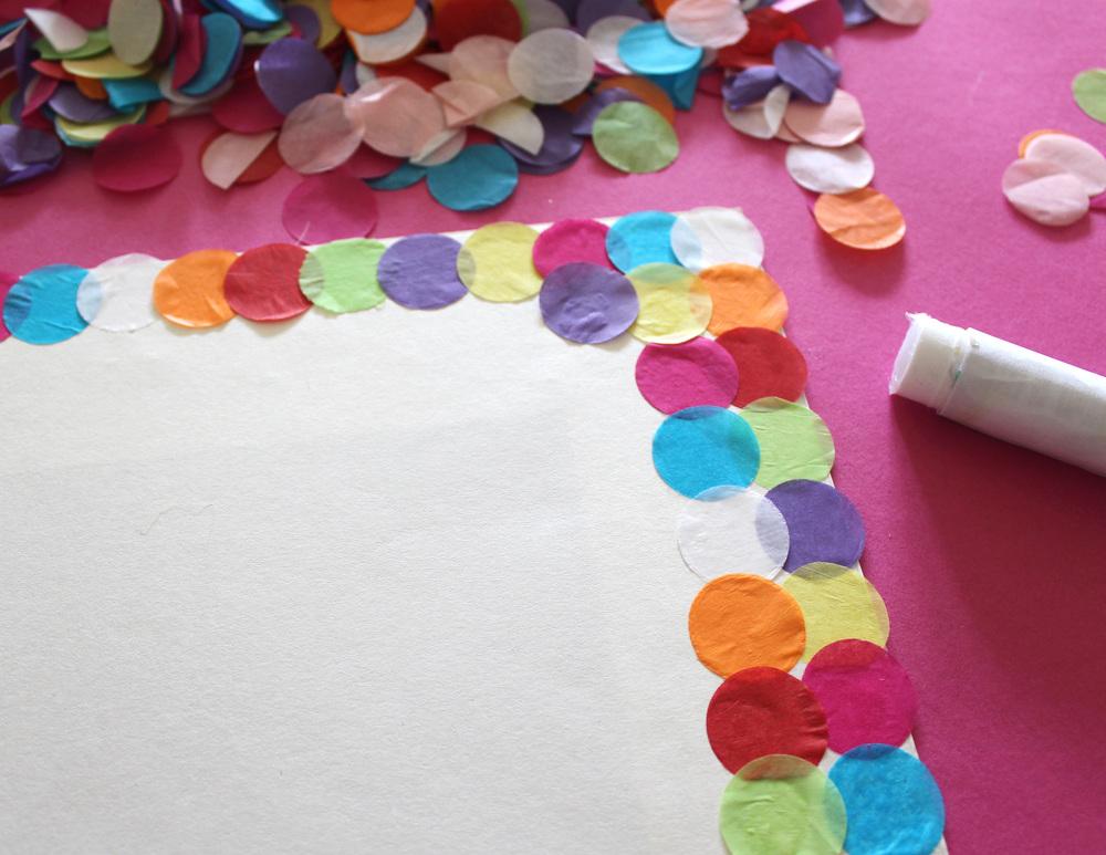 How to make confetti art