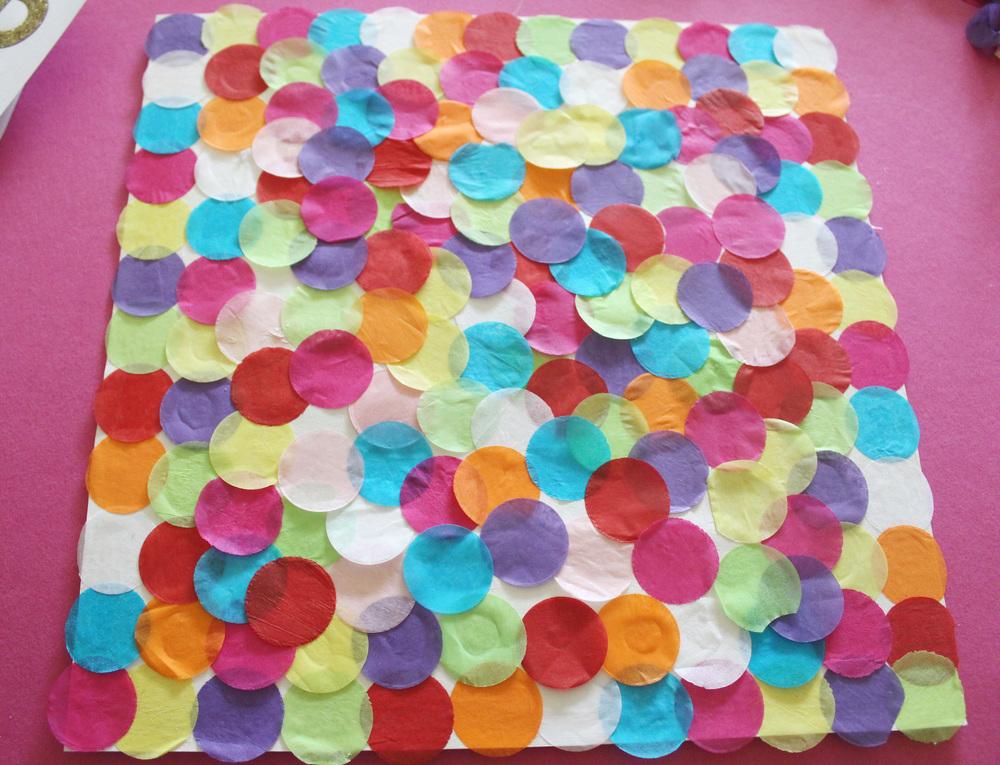 how to make a confetti frame, ikea hack