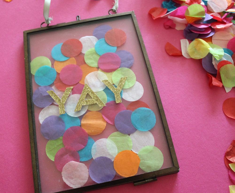 how to make a confetti DIY