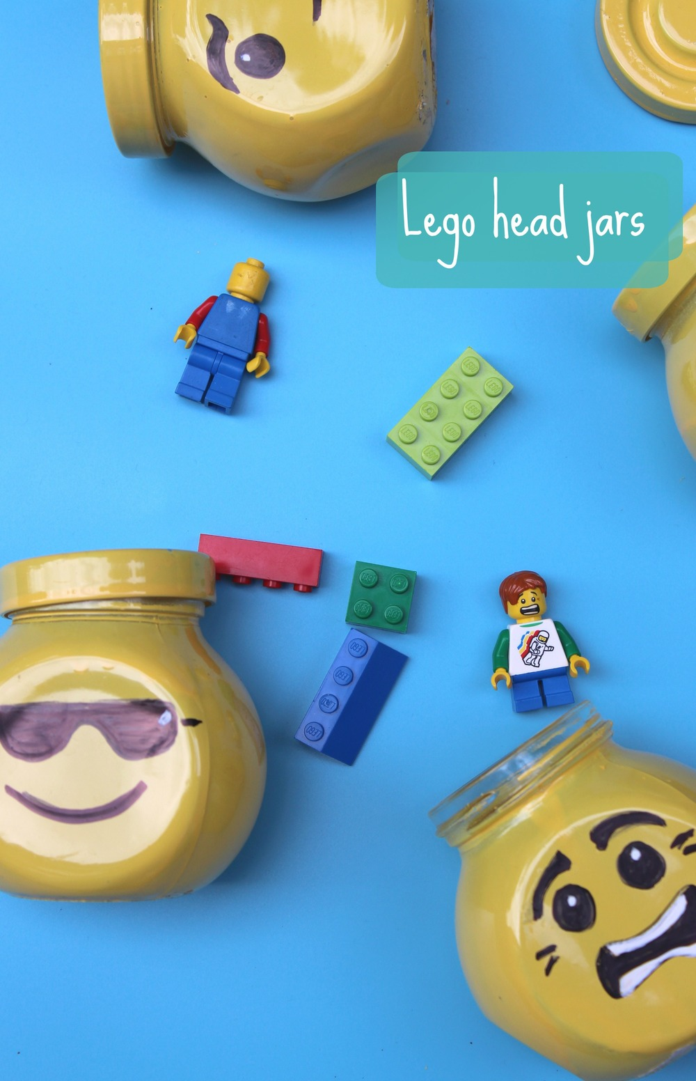 how to make lego head jars